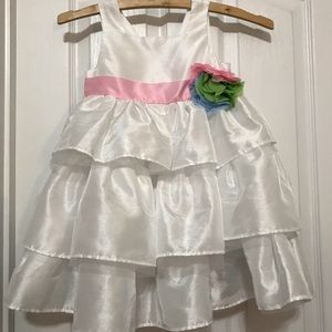 Mudpie dress with bow in back 4T